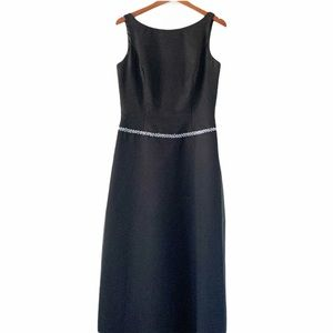 Impressions A-Line Sleeveless Beaded Gown Black 14